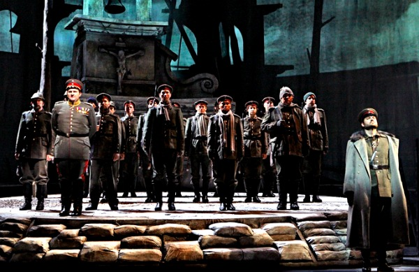 A scene from the world premiere in November 2011 at the Minnesota Opera in St. Paul. .