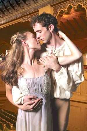 """Atlanta Ballet's Christine Winkler and John Welker, who are married, dance the lead roles in Michael Pink's """"Romeo and Juliet"""" in 2008. Photo: Charlie McCullers"""
