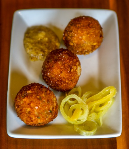 Boudin ball, anyone. At Cochon, think Cajun.