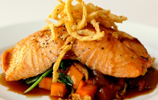 Maple bourbon salmon at the Woodruff Arts Center's Twleve Eighty — Inspired Dining.