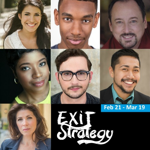 "The cast of ""Exit Strategy."""
