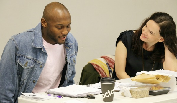 "The playwright, with director Emily Bordelon. ""If I'm angry, I'm probably writing a play,"" he says. ""If I'm sad, I'm probably writing a poem. I'm not really productive if I'm happy."" Photo: A'riel Tinter"