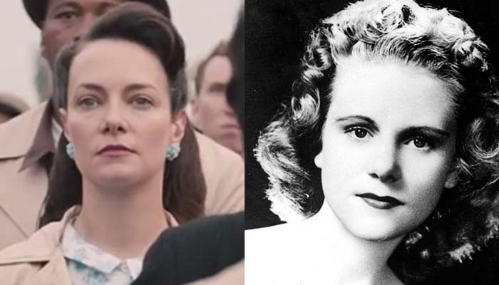 "Tara Ochs in ""Selma"" (left), and the real Viola Liuzzo."