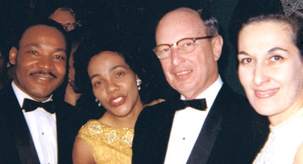 From Jan. 23, 1965: Rabbi Jacob Rothschild and his wife, Janice, with the Rev. Martin Luther King Jr. and his wife, Coretta. Taken at a dinner party for months after King won the Nobel Peace Prize. Photo: Rothschild family