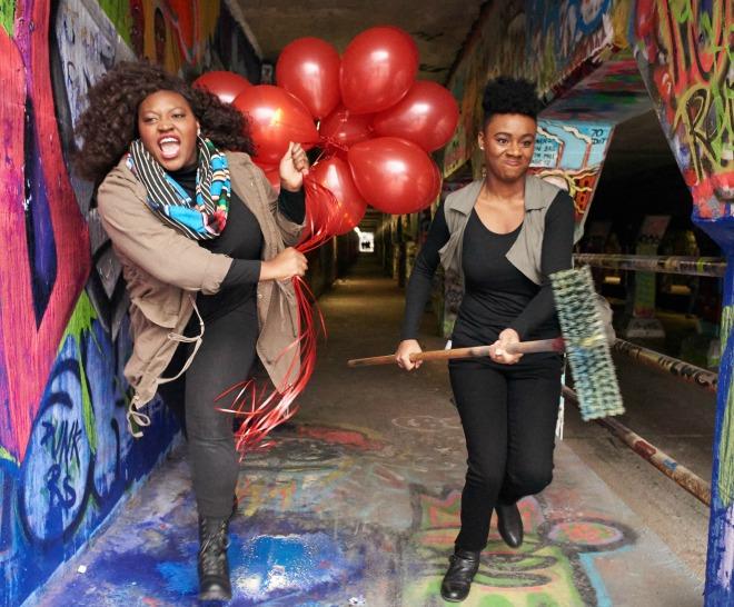 Candice McLellan (left) and Jasmine Ellis. Photo: Chris Bartelski