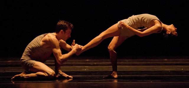 "Christian Clark (left) and Rachel Van Buskirk dance Ohad Narharin's ""Minus 16."" Photo: Charlie McCullers"