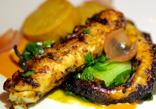 Double Zero's grilled octopus.