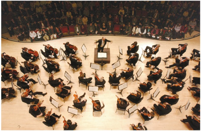 The Atlanta Symphony Orchestra in concert, with music director Robert Spano conducting. Photo: Jeff Rothman