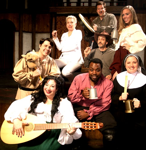 "The cast of ""Geoffrey Chaucer's The Canterbury Tales."" Photo: Shakespeare Tavern Playhouse"
