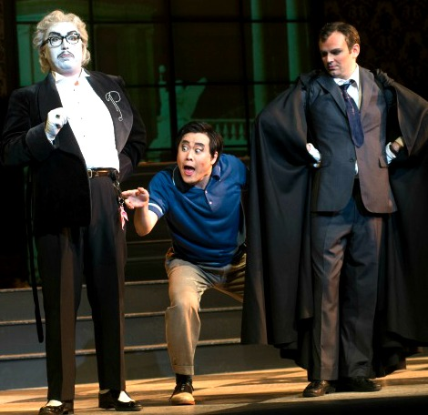 In this staging, Don Pasquale is an aging silent-movie star. Photo: Cincinnati Opera