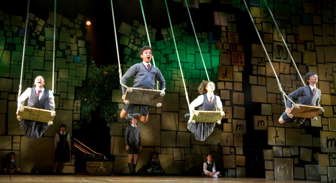 """The """"Matilda"""" kids perform the """"When I Grow Up"""" number. Photo: Joan Marcus"""