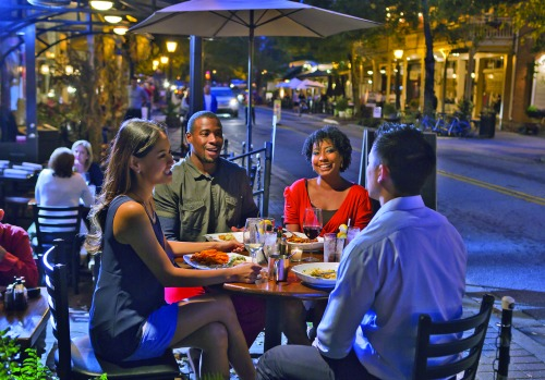 Canton Street, with its mix of eateries, is Roswell's version of Restaurant Row. Roswell CVB.