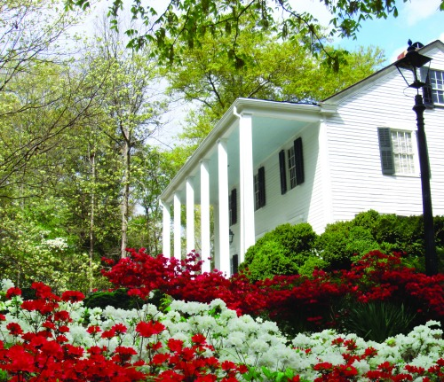 Azaleas bloom in spring on the grounds of Smith Plantation, built by one of Roswell's founders. Photo: Roswell CVB