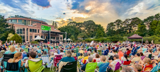 This summer's Concerts in the Garden series runs June 18-Sept. XX and includes Michael Feinstein singing Sinatra, Photo: Atlanta Botanical Garden