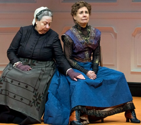 Tony winner Jayne Houdyshell (left) and four-time Tony nominee Laurie Metcalf as Nora Torvald. Photo: Sara Krulwich/The New York Times