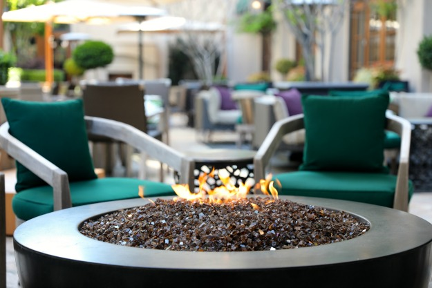 An outdoor fire pit at the Tavern at Atlas. Looks inviting, no?