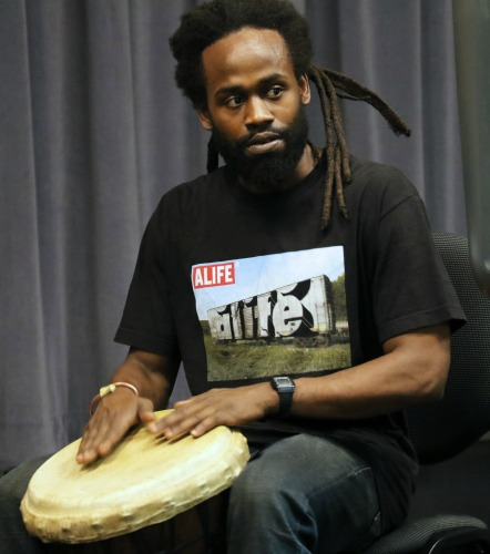 Meet drummer Akumba Bynum-Roberson, who plays the Sun.