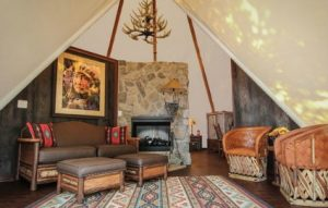 A luxe teepee at Westgate.