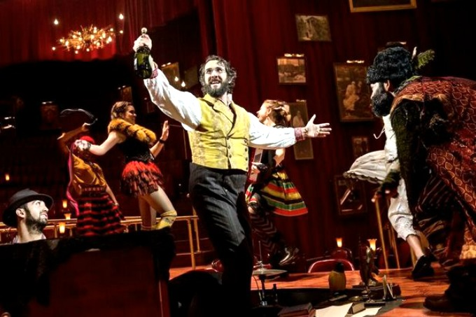"The cast of ""Natasha, Pierre & the Great Comet"" with Tony nominee Josh Groban."