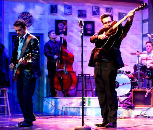 """Christopher Kent (left) and Chris Damiano in a scene from """"Million Dollar Quartet."""" Photo: Cayce Calloway"""