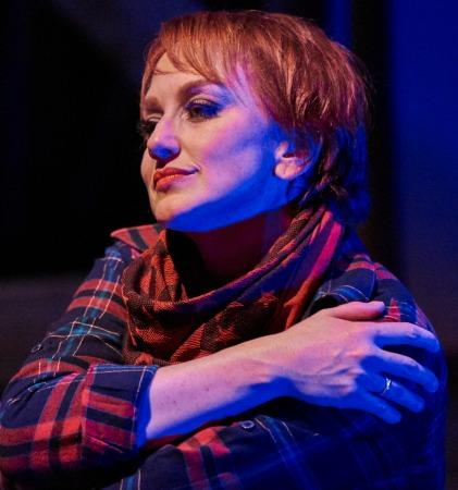 Deborah Bowman as the Balladeer. Photo: Chris Bartelski