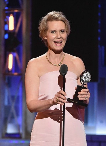 "Cynthia Nixon, a winner for her work in Lillian Hellman's ""The Little Foxes."""