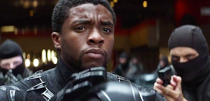 "Chadwick Boseman played Black Panther in ""Captain America: Civil War,"" which filmed at Pinewood Studios in Fayetteville. Photo:"