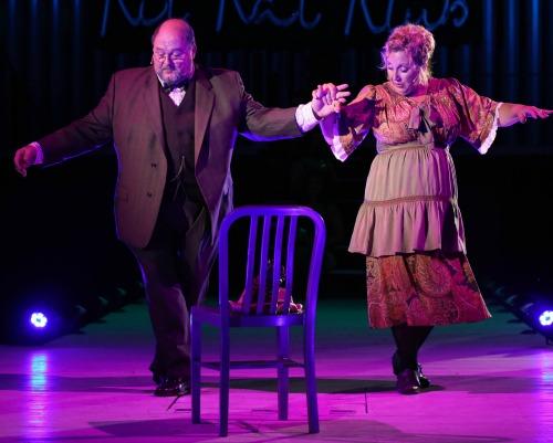 Robert Wayne and Heidi Cline McKerley have an almost-love story as Herr Schultz and Fraulein Schneider. Photo: BreeAnne Clowdus