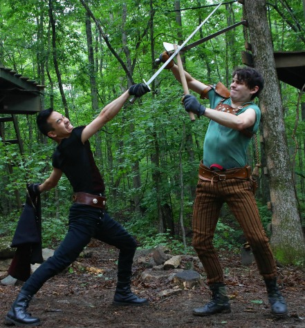 "The swords fly for the last time this weekend in Serenbe's ""Robin Hood."" Photo: BreeAnne Clowdus"