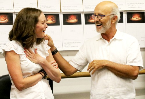 Director Richard Garner with actor Bethany Anne Lind, who plays Viola, Will Shakespeare's muse. Photo: A'riel Tinter
