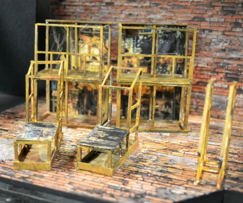 The set, in model form, designed by Angela Balogh Calin. Photo: Kathleen Covington