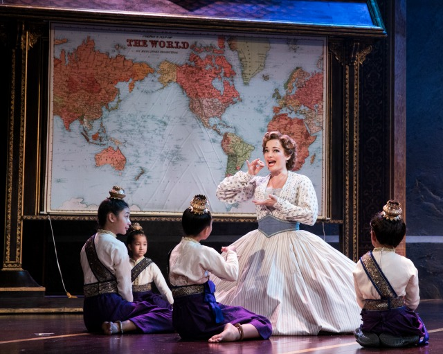 "Laura Michelle Kelly as Mrs. Anna, teaching the King's children in ""Getting to Know You."" Photo: Matthew Murphy"