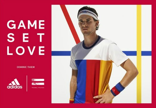 Dominic Thiem wore the New York Tee ($75), which has a contrast-color ribbed neckline. Photo: adidas